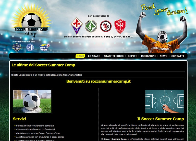 A.S.D. Soccer Summer Camp - Sito Internet